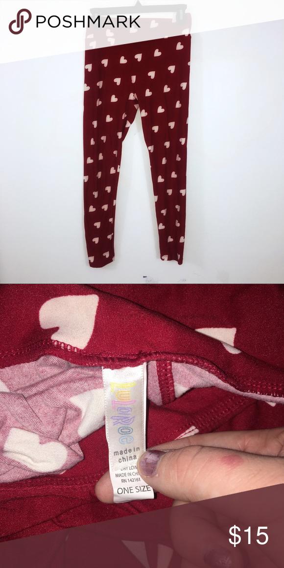 d299a5528ae8f9 Lularoe Valentine's Day leggings one size One size LuLaRoe Pants Leggings