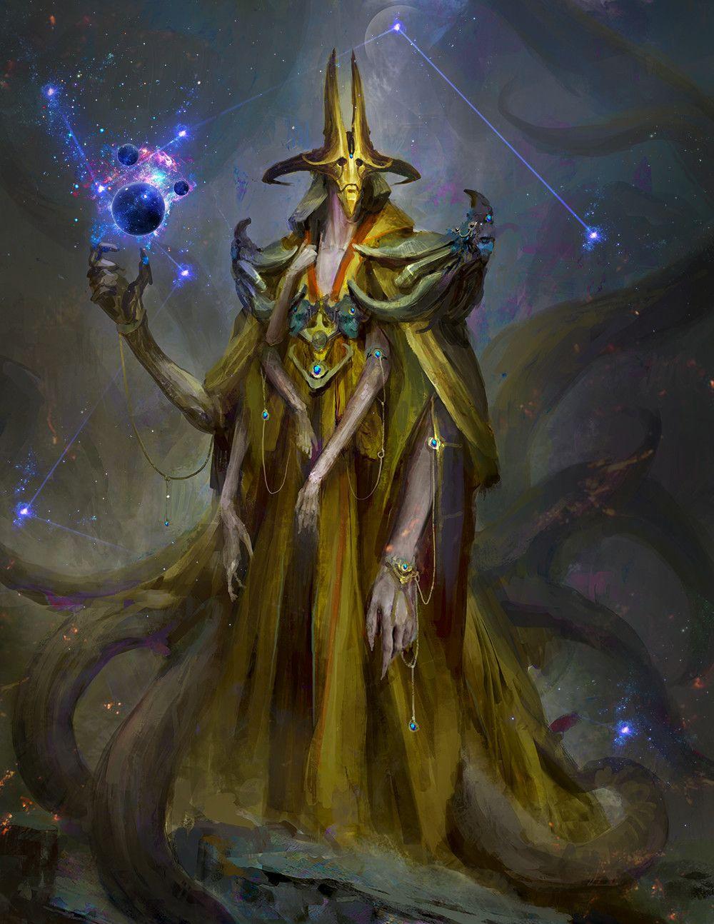 Quarkmaster Hastur Client Work Painting Some Lovecraft