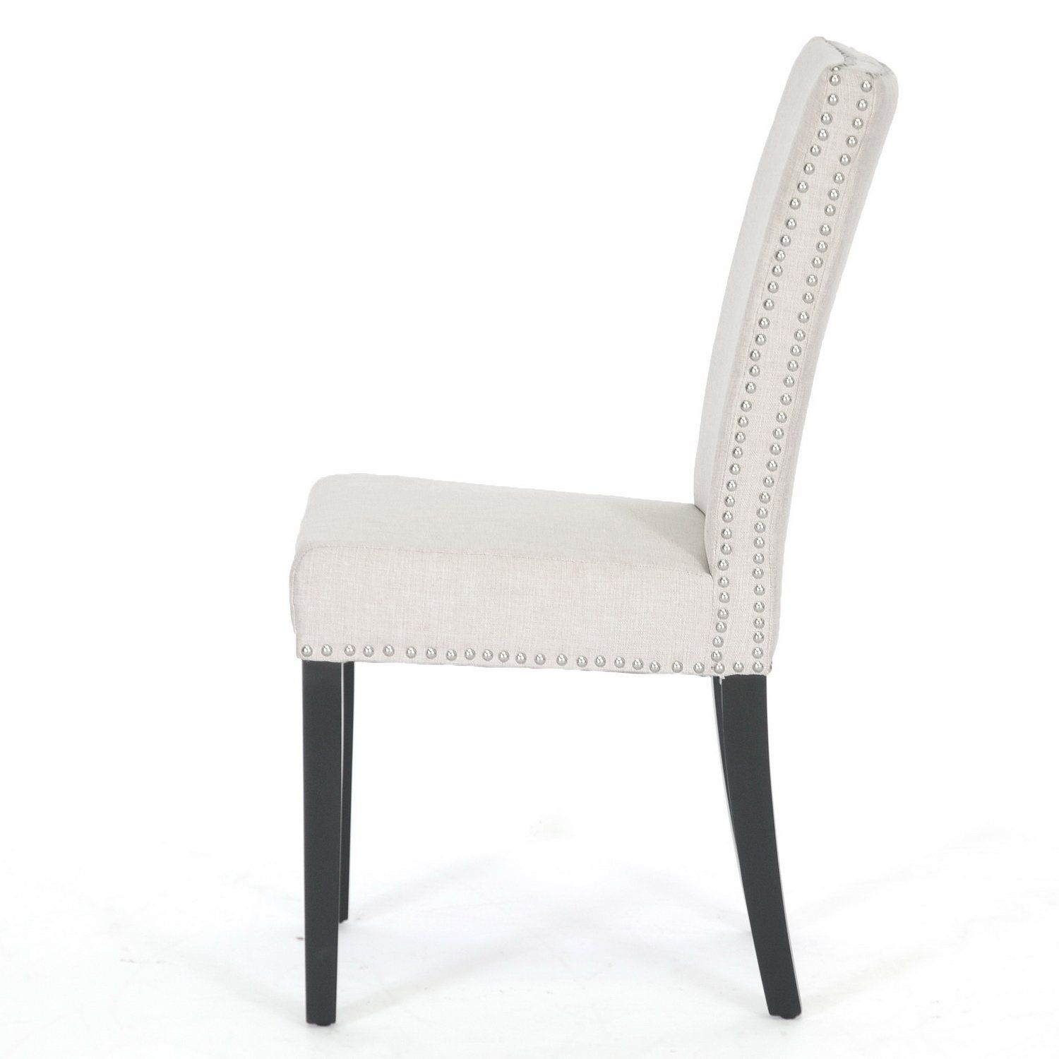 Black chair and white chair - Painting Of White Upholstered Dining Chair