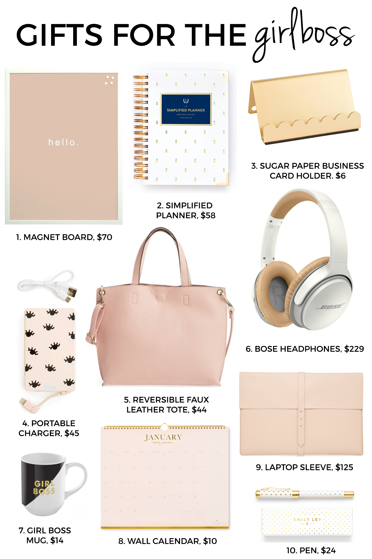 ultimate holiday gift guide girl boss christmas gift guide and