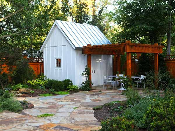 8 She Shed Design Ideas With Staying Power Pergolas White