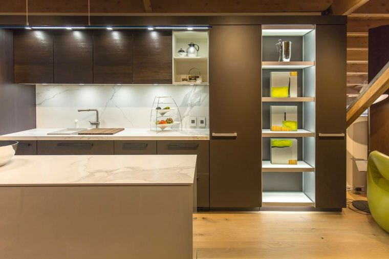 arredamento per cucine moderne piccole, parete attrezzata con ...