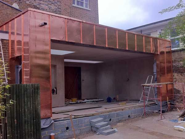 Copper Cladding To Hampton Extension Metal Roof Ltd In