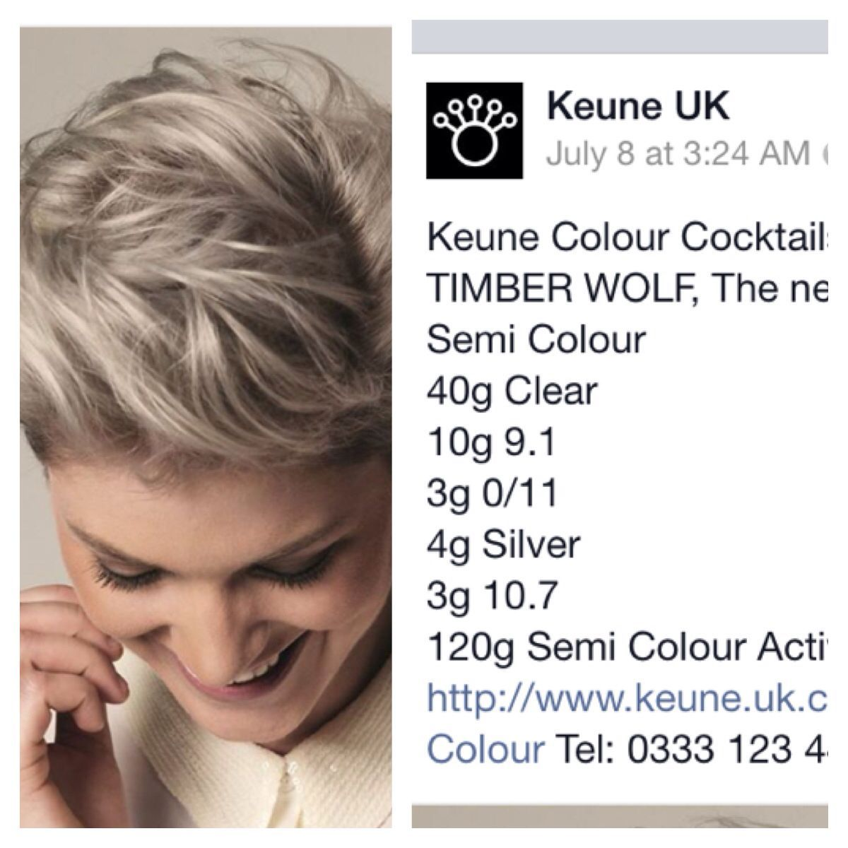Check Out With Great Formula For The Perfect Silver Grey Hair By Keune Uk Keune Haircolor Hair Color Chart Hair Color Formulas Hair Color