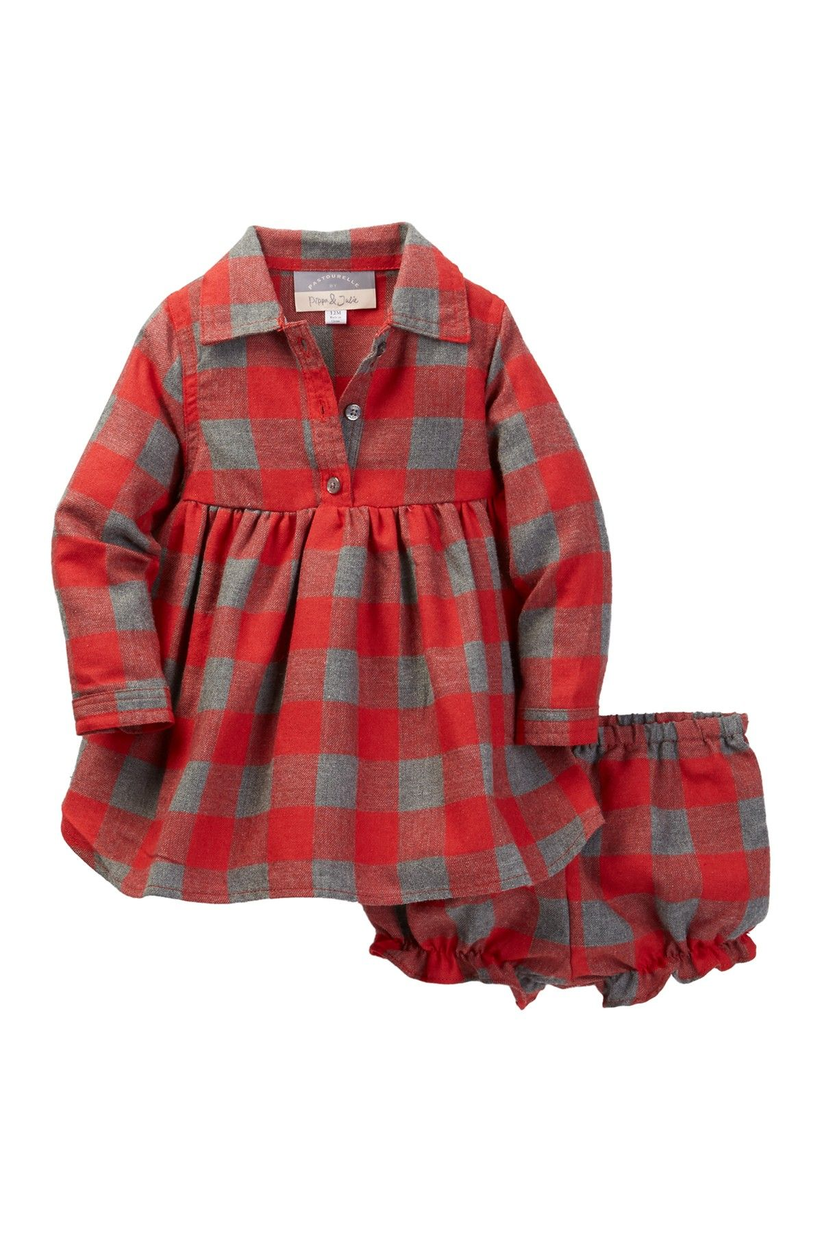 Flannel shirt for girls  Pastourelle by Pippa and Julie Buffalo Plaid Shirt Dress Baby Girls