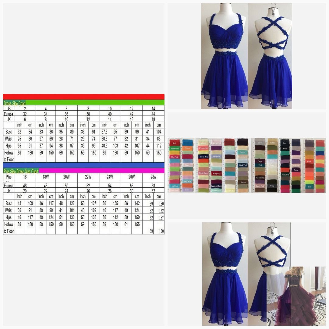 Two pieces homecoming dressesspaghetti straps homecoming dresses