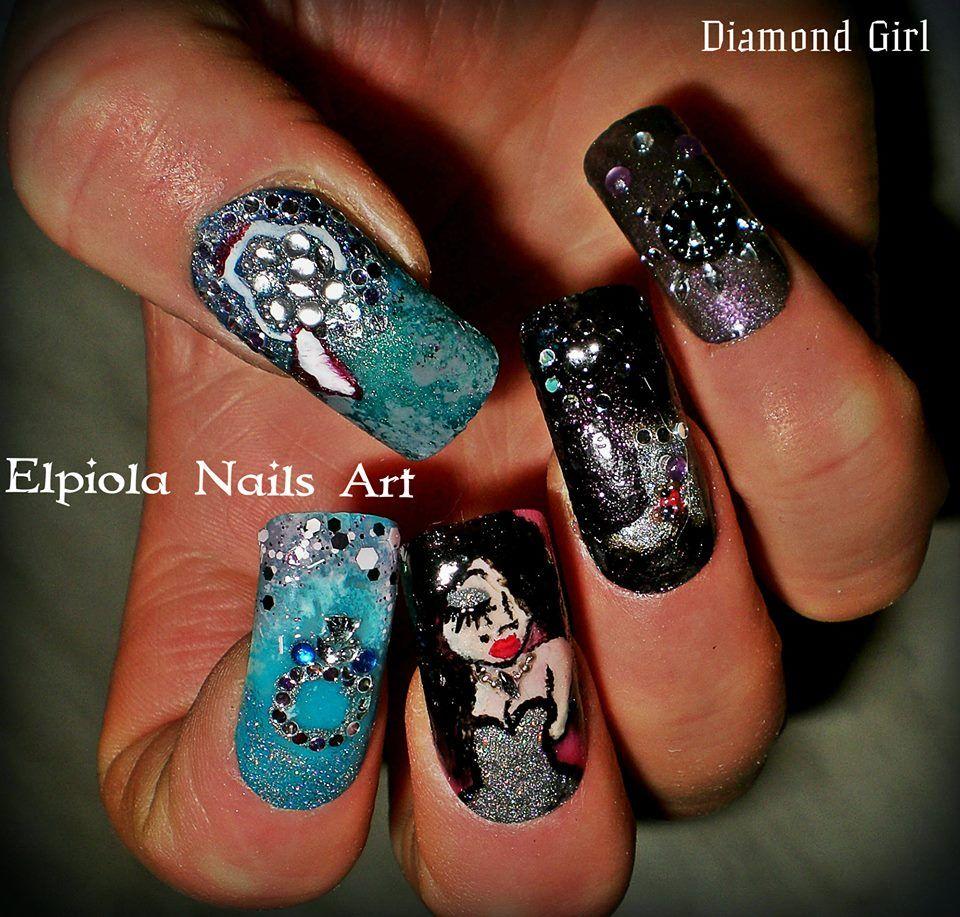 ideas of luxury, glittery diamonds nails by Elpiola Nails Art ...