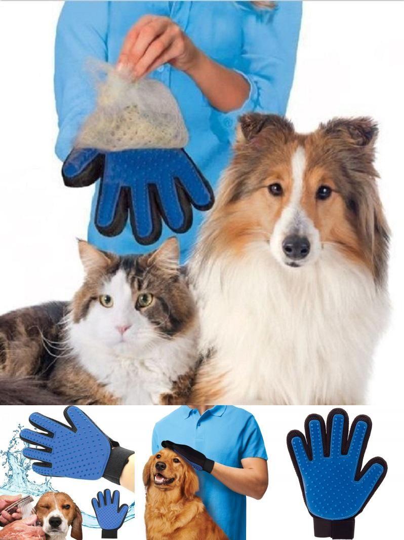 Visit To Buy Hot Sale Deshedding Brush Glove Pet Dog Cat Brush