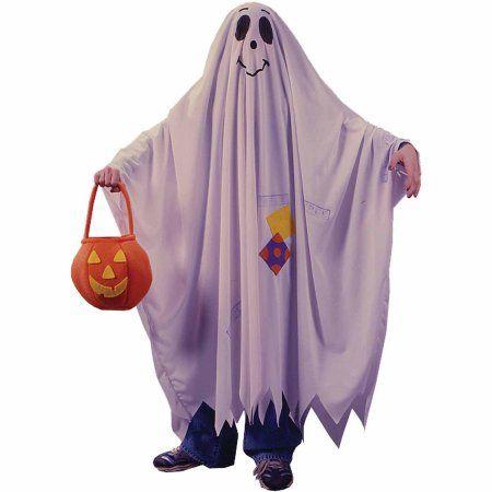 Friendly Ghost Child Halloween Costume, Boy\u0027s, Size Small, White - halloween ghost costume ideas