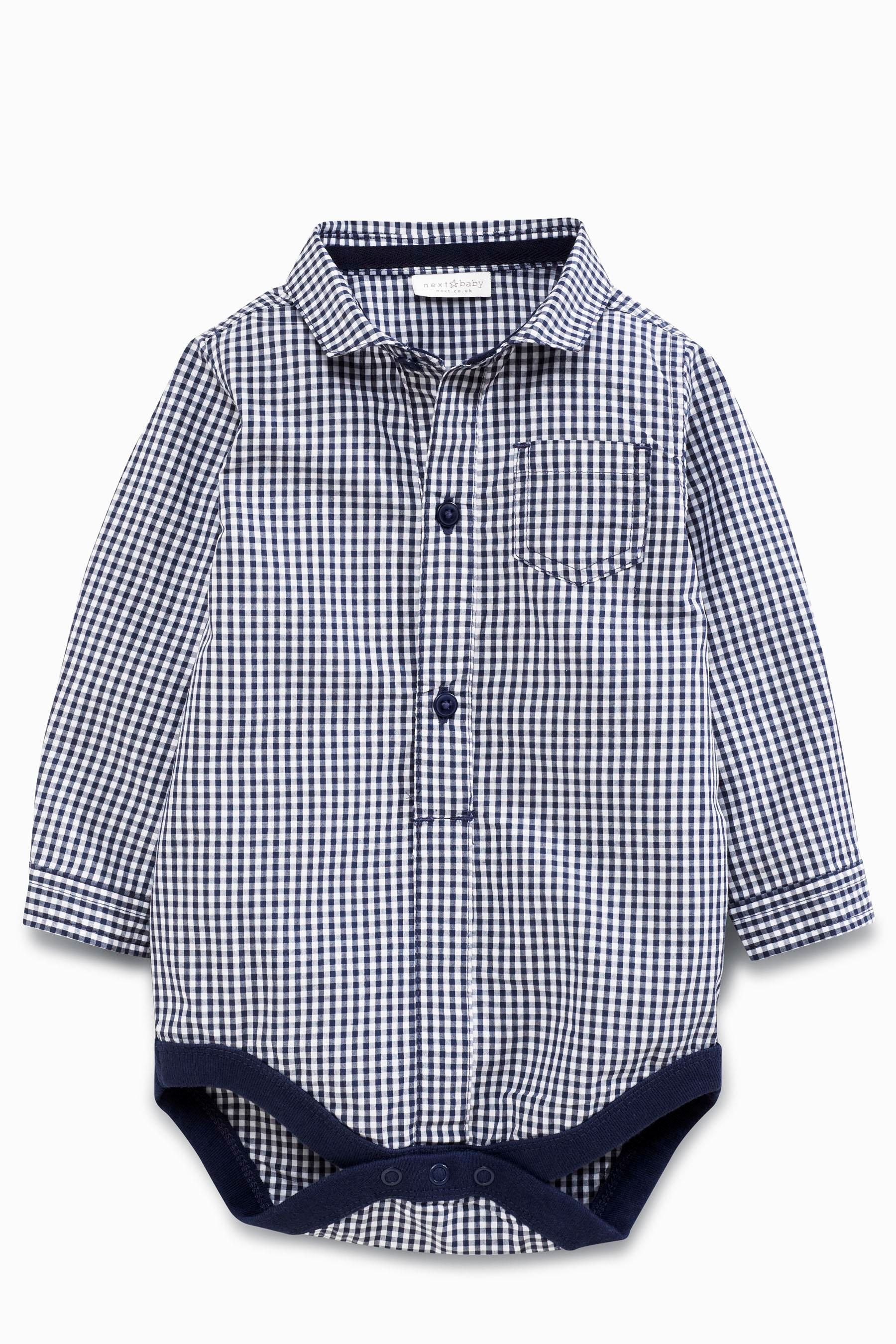 Buy Navy Gingham Shirtbody 0mths 2yrs online today at Next Japan