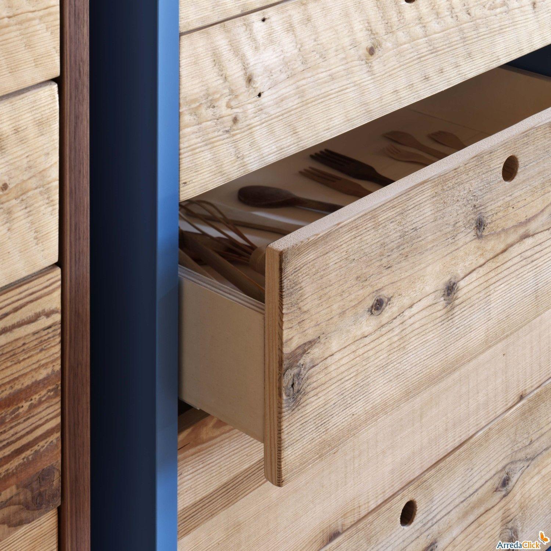 Cassettiere In Legno Grezzo.Cassettiera Tola Con Cassetti In Legno Grezzo Arredaclick Wood