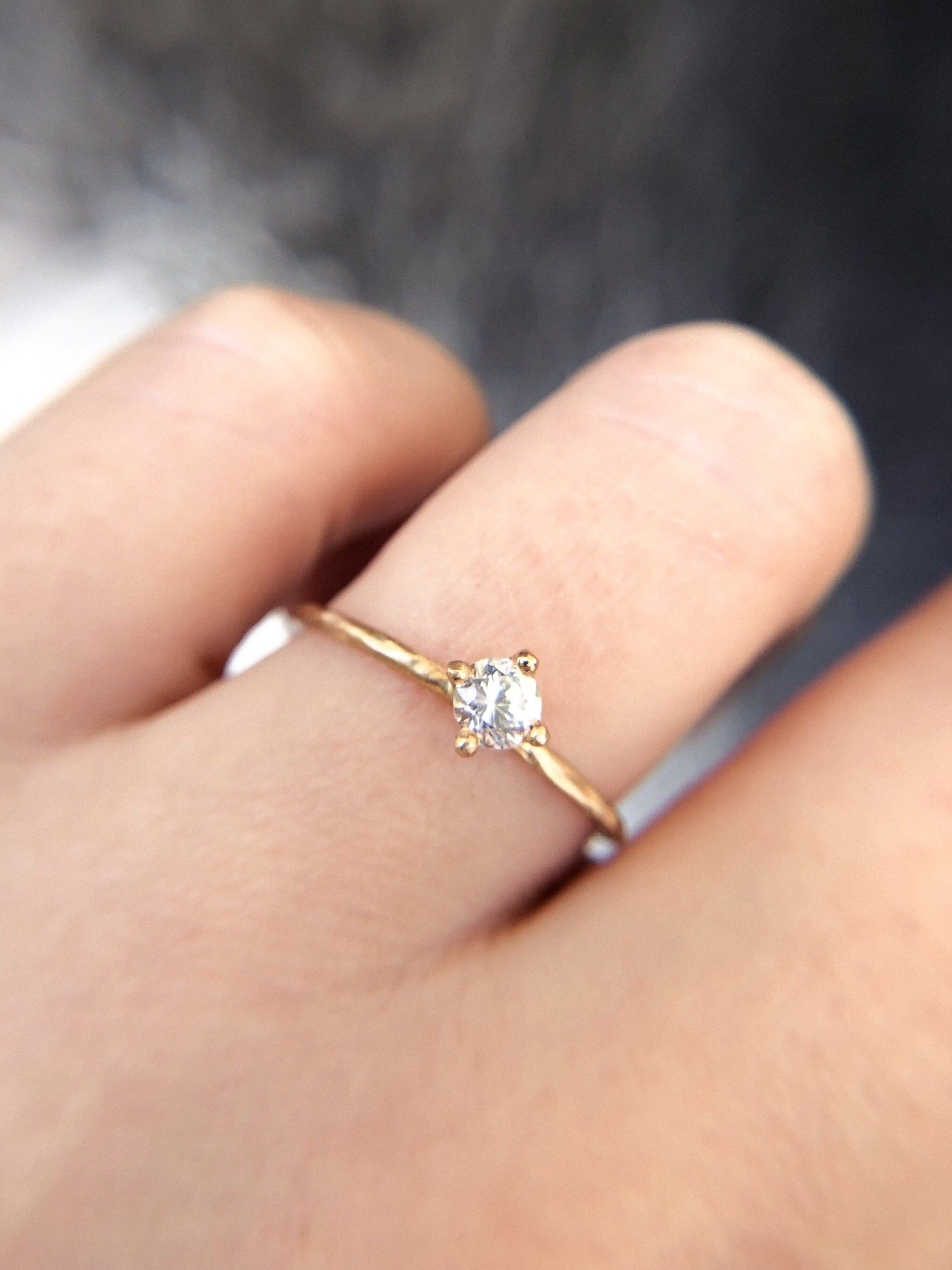 This Boho Alternative Engagement Ring Is Made With Ethical Conflict Free Classic Engagement Ring Solitaire Boho Engagement Ring White Sapphire Engagement Ring