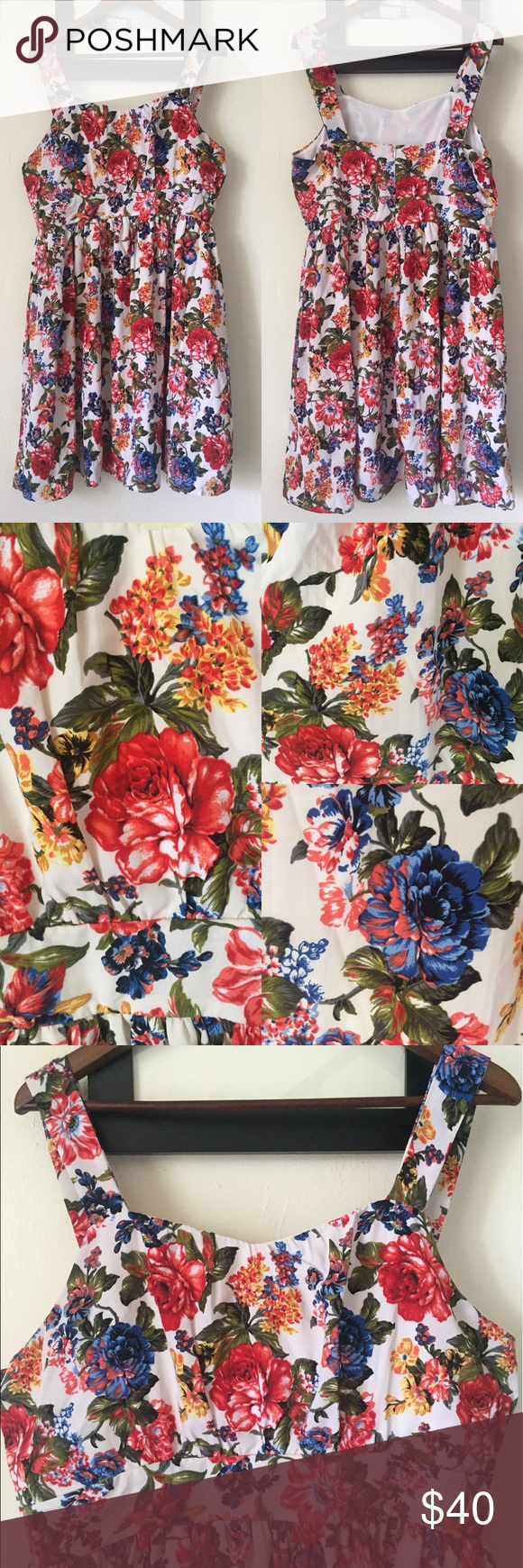 1d5875c74c Modcloth s Belles in your Courtyard Flower Dress So many flowers! Included  a close up of
