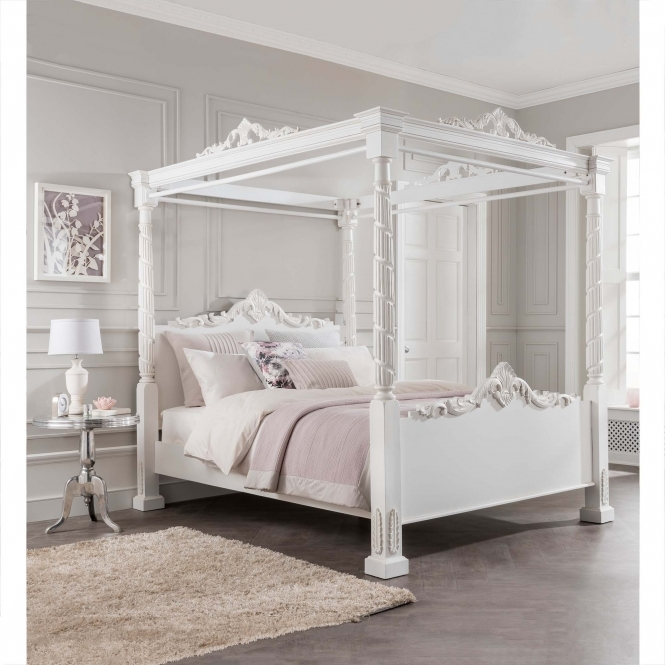 Lincoln Four Poster Antique French Style Bed In 2020