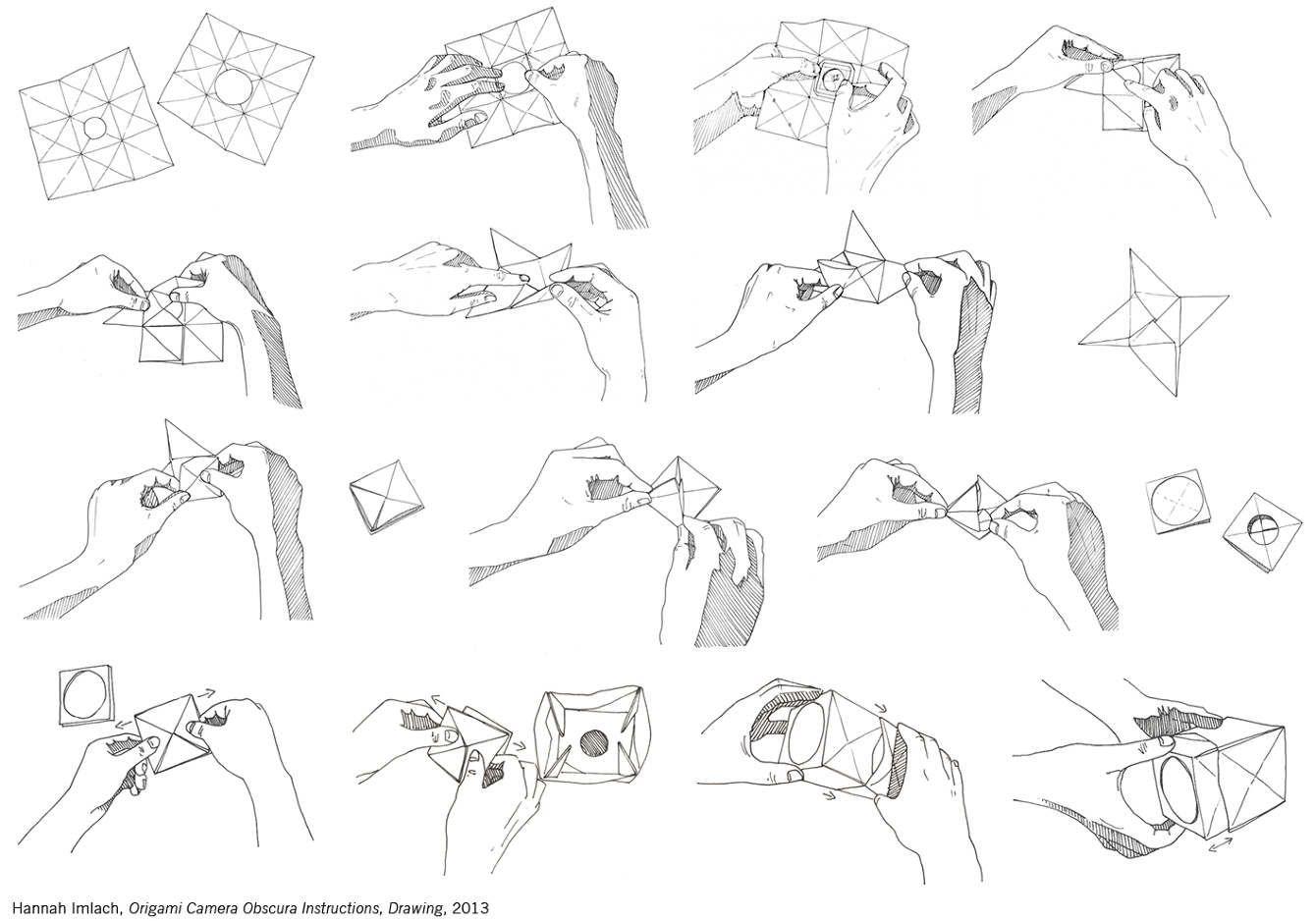 origami camera obscura