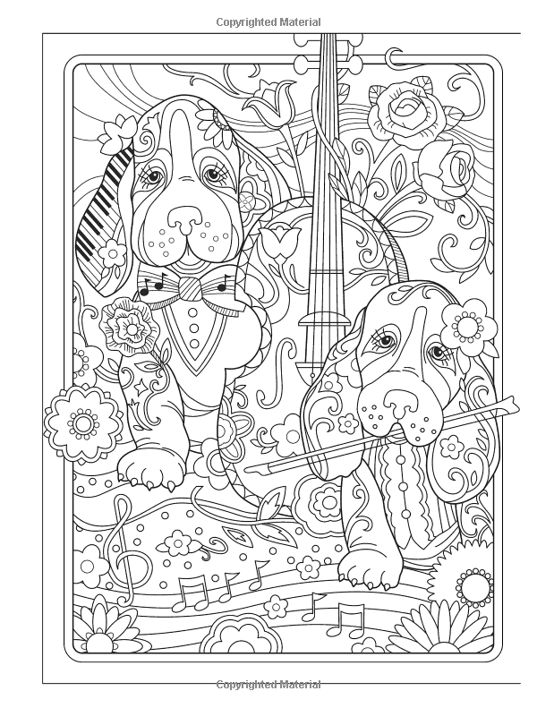 creative haven playful puppies coloring book adult coloring