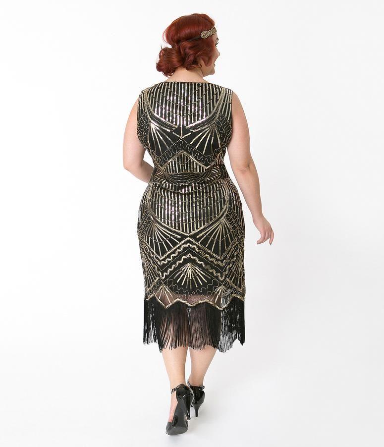 c48969ed0c3 Plus Size Flapper Dresses and Costumes – Unique Vintage