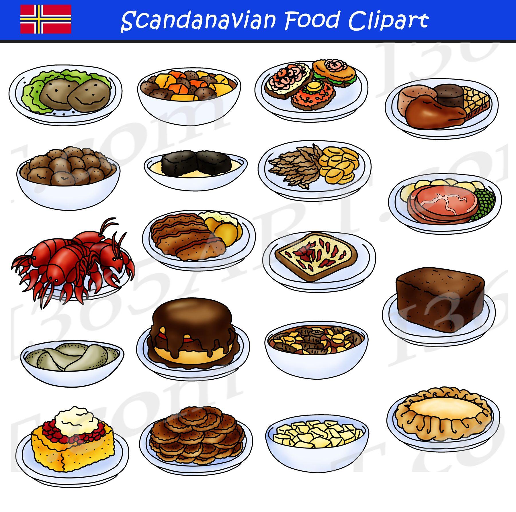 Scandinavian Food Clipart Set Download Clipart 4 School Food Clipart Scandinavian Food Food