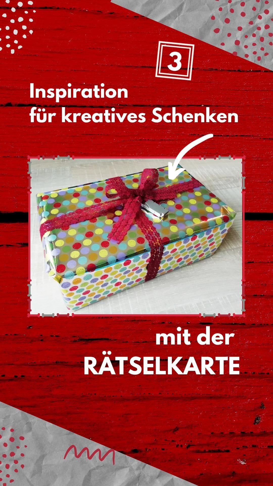 Verpacken rätsel geschenk als Geschenk als