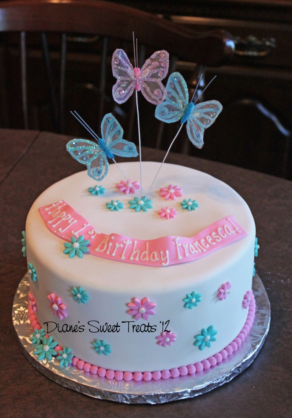 1st Birthday with Butterflies Kenna birthday Pinterest