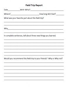 An Assortment Of Homeschool Forms Field Trip Reports Copies To