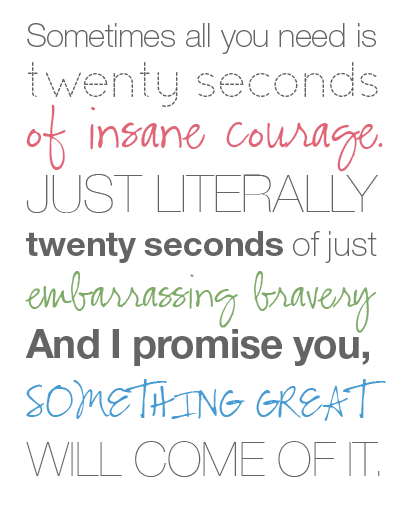 Kuweight 64: COURAGE - JUST 20 SECONDS OF IT One of my new faves