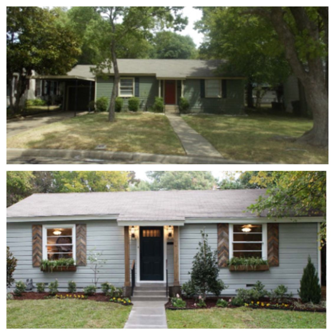 Hgtv Small Front Yard Landscaping Ideas: Before & After Fixer Upper In 2019