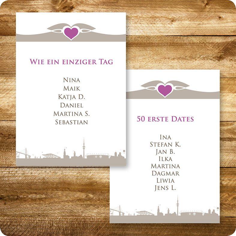 tischkartekarte maritim, hamburg, hochzeit, individuell designed, Einladungsentwurf