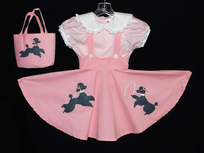 Poodle Skirt 1956 Set For Little Girls