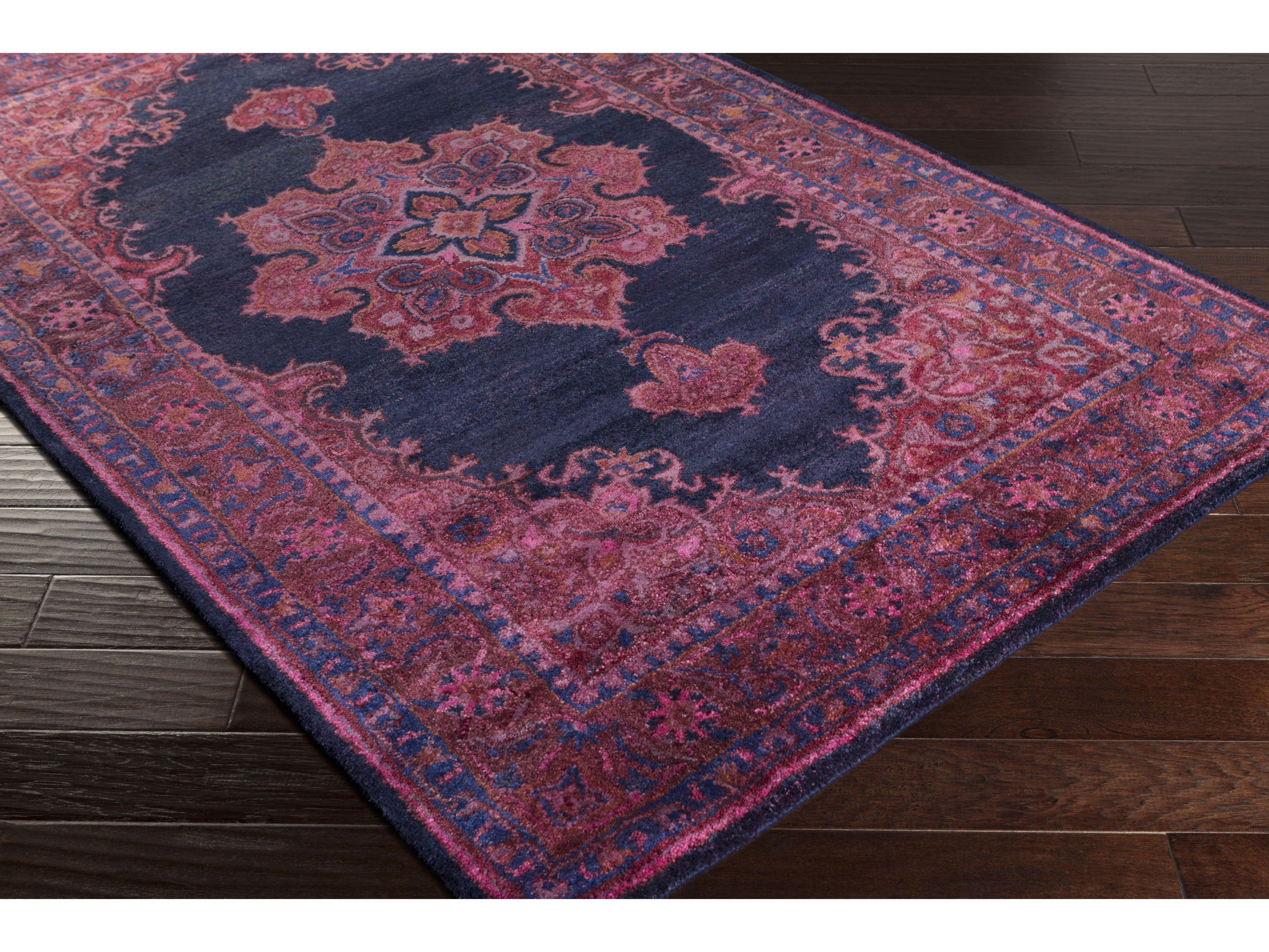 surya mykonos rectangular navy u0026 dark purple area rug