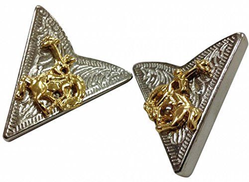 Silvercolored Collar Tips with Cowboy. Silvercolored Collar Tips with Cowboy - Great range of western and cowboy accessories - Buy online now at Doktor Hardstuff Western Store.