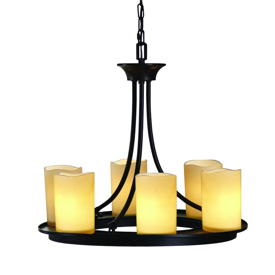 Shop Allen Roth Harpwell 6 Light Oil Rubbed Bronze