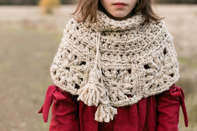 Granny Square Capelet pattern by Jen Dwyer | Crochet | Pinterest