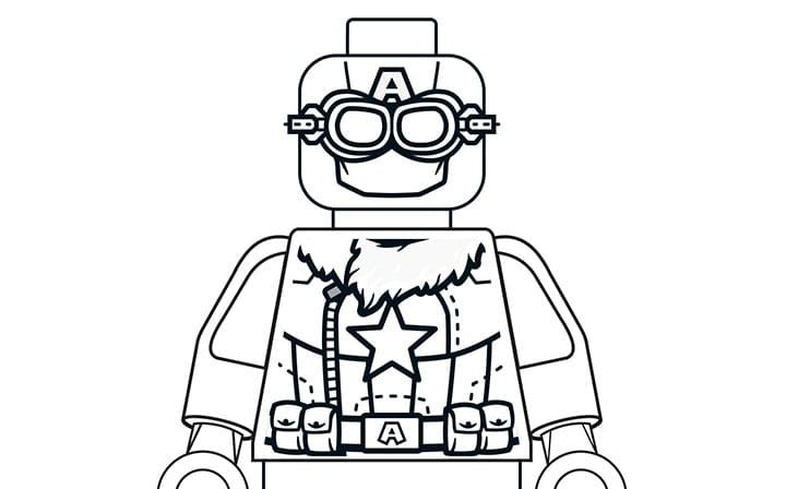Pilot Captain America Marvel Coloring Lego Marvel Super Heroes Coloring Pages