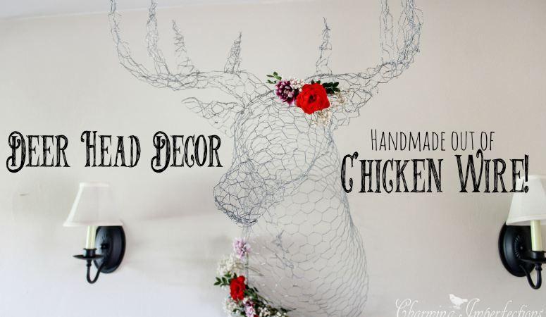 It\'s a Chicken Wire Deer Head | Chicken wire, Craft and Wire crafts