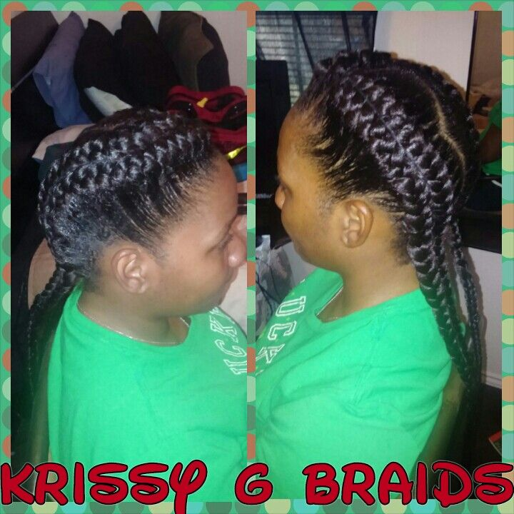 Double up Goddess Braids