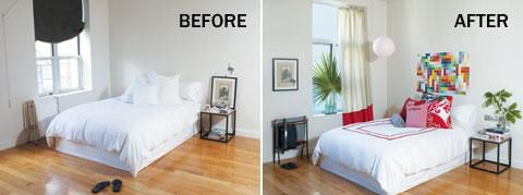Simple Bedroom Renovation Ideas broke-ass decorating — time out new york 6.5.08 | red pillows