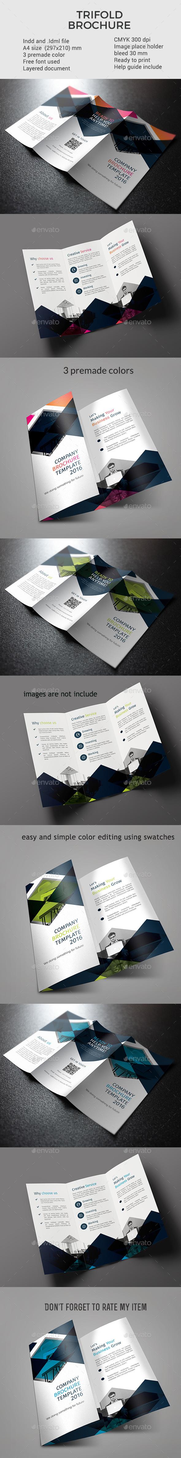 Modern trifold brochures Design Template vol 4 - Corporate Brochures Design Template InDesign INDD. Download here: https://graphicriver.net/item/modern-trifold-brochures-vol-4/17042633?s_rank=238&ref=yinkira