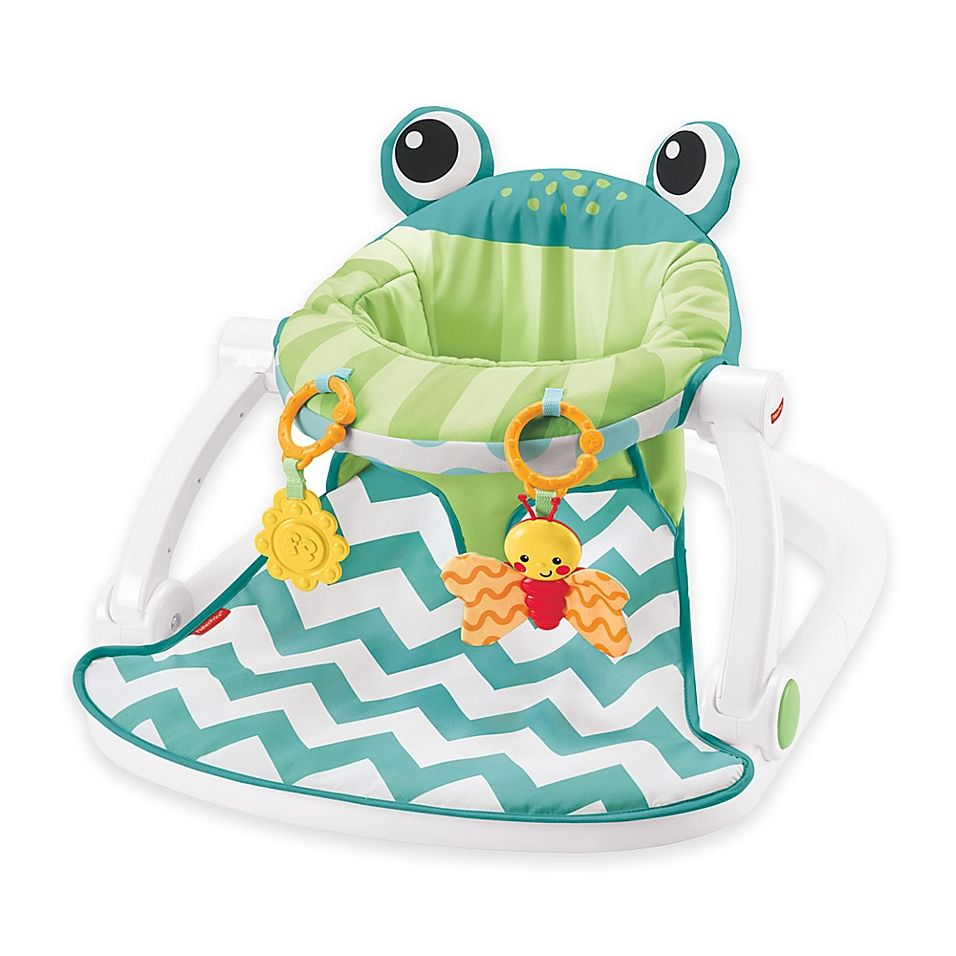 Fisher Price Sit Me Up Frog Floor Seat In Citrus Multi Fisher