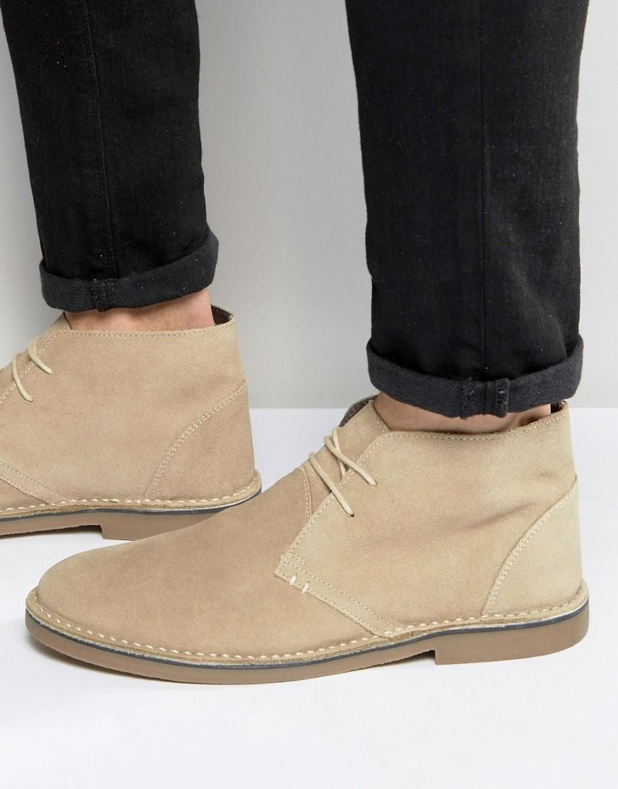 Desert Shoe In Stone - Stone New Look uzaXwA5zR