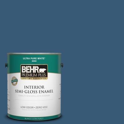 BEHR Premium Plus 1-gal. #ICC-85 China Pattern Zero VOC Semi-Gloss Enamel Interior Paint - 330001 at The Home Depot