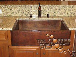 Ordinaire 33 Copper Farmhouse Single Bowl Kitchen Apron Sink D B | EBay