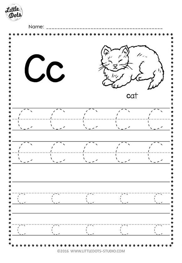 free letter c tracing worksheets little dots education preschool printables and activities. Black Bedroom Furniture Sets. Home Design Ideas