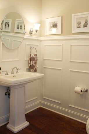Traditional powder room with signature hardware sussex - Small powder room sink ...