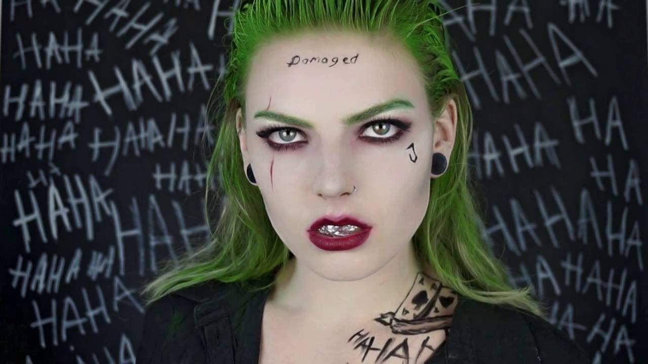 FEMALE JOKER MAKEUP TUTORIAL   suicide squad   Halloween costume ...