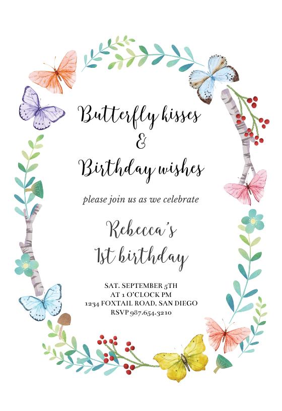Butterfly Wreath Invitacion De Cumpleanos Greetings Island Plantillas Para Invitacion De Cumpleanos Invitaciones De Cumpleanos Plantillas De Invitacion Para Baby Shower