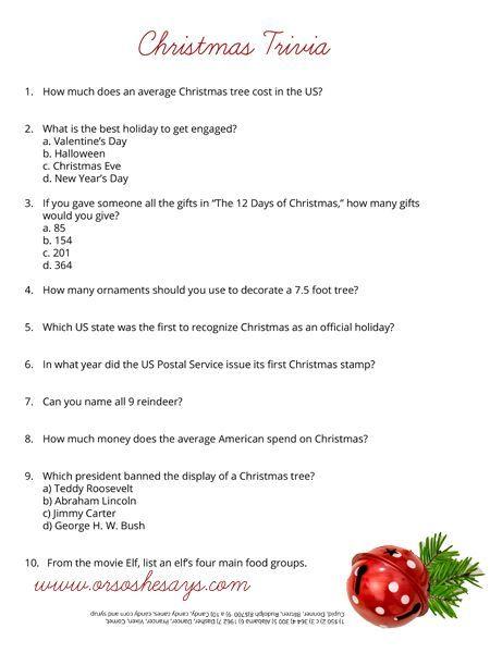 Christmas Trivia Quiz Free Printable She Rachel Christmas Trivia Christmas Trivia Quiz Santa And Reindeer