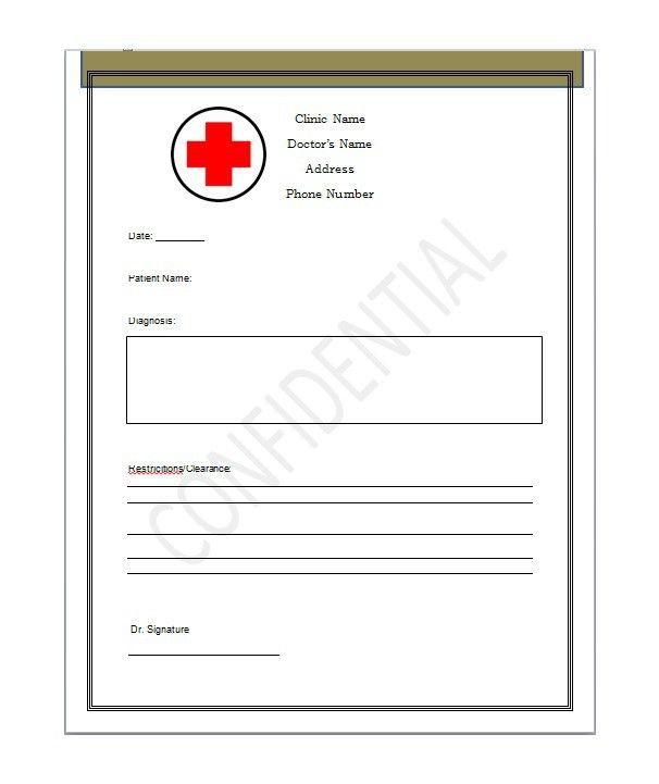 bonus doctor notes template 04