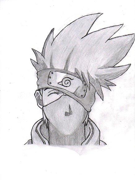 Kakashi Sensei Para Dibujar Facil Imagui Naruto Sketch Naruto Drawings Anime Drawings Sketches