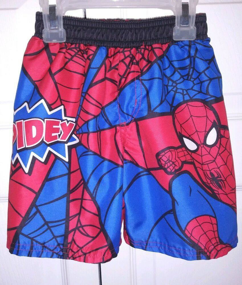 b134327ff9 VGUC MARVEL SPIDERMAN Boy's 2T Swim Trunks Shorts
